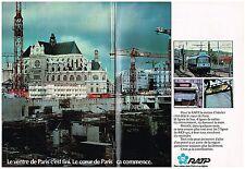 PUBLICITE  1977   RATP    STATION CHATELET   au coeur de PARIS  ( 2 pages)