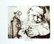 Charles Bragg THE GAS MAN- Lithograph from Etching (From Medical Suite)
