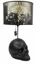 New SOA Sons of Anarchy Skull Base Table Lamp Group Photo + Reaper Pull