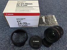 Great Condition Canon EF 24-70mm F4 L IS USM Zoom Lens With Hood 0410010707