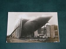 ORIGINAL REAL PHOTO POSTCARD - ZEPPELIN - THE LATEST AIRSHIP, THE PARSEVAL c1912