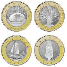 Lithuania  4 coin set 2 Litai UNC , 2013