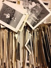50 Old Photos Lot BW Vintage Photographs Snapshots Black White people places