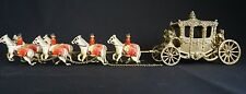 RARE MOKO LESNEY LARGE CORONATION COACH AND EIGHT HORSES -  MADE IN ENGLAND