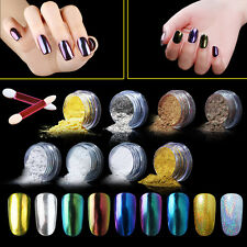 Elite99 Mirror Effect Nail Chrome Powder 9 Color Set Chameleon Bling Holographic