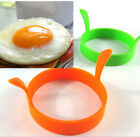 4Pcs Kitchen Silicone Egg Frier Fried Oven Pancake Poacher Poach Ring Mould Tool