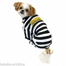 NEW PRISONER CRIME HOMEWORK EATER JAIL DOG HALLOWEEN pet COSTUME sz XL