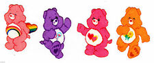 """1.5"""" CARE BEARS LOVE-A-LOT CHEER  MINI SET CHARACTER FABRIC APPLIQUE IRON ON"""