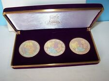 New Precious Moments Set 3 Medallions in Box - Loving - Caring - Sharing PCC-112
