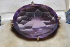 SPARKLING VINTAGE ART DECO AMETHYST GLASS BROOCH