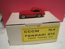 KIT MONTER RESINE TRES BELLE FERRARI 212 coupe touring 1952 CCCM n°4 ~1/43