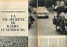 Coupure de presse clipping  114  1964  RTL radio LA VIE SECRETE  (3 pages)