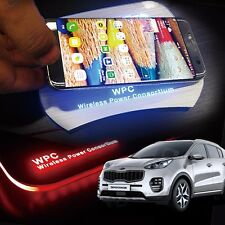LED Wireless Battery Charger Cup Holder Door Catch Plate for KIA 2017 Sportage