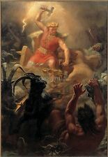 Viking Norse God Thor 1872 Fight With Giants Winge 7x5 Inch Print 20