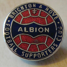 BRIGHTON & HOVE ALBION Vintage SUPPORTERS CLUB Badge Maker EMBLEMS 26mm x 26mm