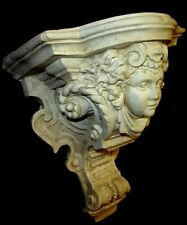 Minerva Face Shelf Bracket Sconce Sculpture Home Decor