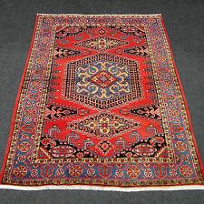 Orient Teppich Rot 275 x 215 cm Perserteppich Handgeknüpft Old Red Carpet Rug