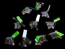 10 Bunches - 12 Mixed Size Safety Pins Silver Colour Dressmaking Craft V78