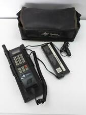 Vintage Sprint by Motorola Brick Analog Car Phone and Battery With Carry Case