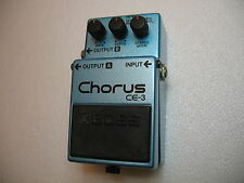BOSS CE-3 STEREO CHORUS N.O.S. PEDAL GREEN LABEL - NEVER HAD A BATTERY