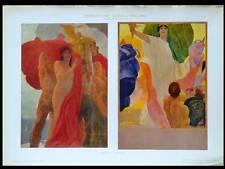 PROJETS DE PUBLICITES -1910- LITHOGRAPHIE, ART NOUVEAU, DUDOVICH, FEMMES