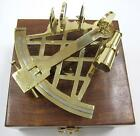 """NAUTICAL Marine Navigation 10"""" SOLID BRASS SEXTANT INSTRUMENT with WOOD BOX New"""
