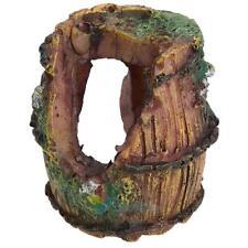 Aquarium Fish Tank Resin Broken Barrel Ornament Cave Landscaping Decoration #