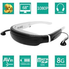 """HD 1080P 68"""" Widescreen Virtual Theater 3D Video Game Glasses 8G for TV Box L4I0"""