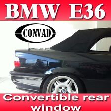 BMW E36 Convertible Rear Window clear no tint PVC Plastic incl. DOT # year 93-99