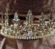 Men's Noble Imperial Medieval Tiaras King Prince Crowns Pageant Party Costumes