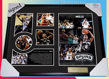 NEW! PATTY MILLS SPURS NBA MEMORABILIA SIGNED FRAME LIMITED EDITION 499 W/ C.O.A