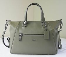 Coach 55532 Surplus Olive Green Mixed Leather Primrose Satchel