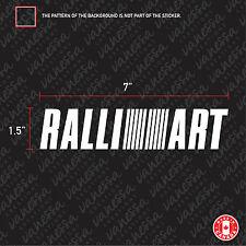 2X MITSUBISHI RALLIART sticker vinyl car decal