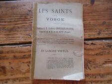 RELIGION - LES SAINTS DE LA VOSGE M.MONCHABLON CHAPELLE NOTRE DAME DE LA HUTTE