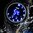 Unsex Dispay Flash LED Blue Light Sport Wrist Quartz Watch Compass Waterproof