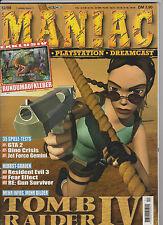 Maniac 12/99 dicembre 1999 + adesivi a tutto tondo DINO CRISIS + TOMB RAIDER IV SKIN