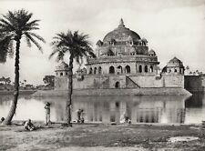 1928 Original INDIA Sasaram Architecture Sher Shah Tomb Photo Art By HURLIMANN