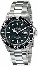 Invicta Men's Pro Diver Quartz 200m Black Dial Stainless Steel Watch 9307