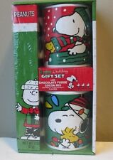 Snoopy Christmas Peanuts Coffee Mug Ceramic Cup Charlie Brown Red Cocoa Set 2