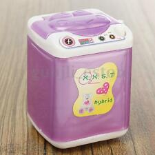 Cute Doll Dollhouse Wind Up Washing Machine Laundry Room Furniture Accessories