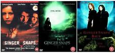 Ginger Snaps Trilogy 1-3 DVD Complete Movie Film Collection Unleashed Beginning