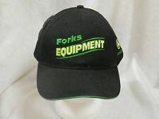 trucker hat baseball cap FORKS EQUIPMENT retro style curved brim nice vintage