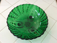 vintage Anchor Hocking Forest Green, Bubble, Bullseye, bowl