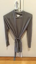 Witchery long cardigan grey size Small 100% wool