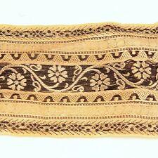 3m (10 foot) LONG Old Antique India SARI Saree TRIM Embroidered Textile 652r10