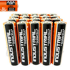20 Duracell AAA batteries Industrial Procell Alkaline LR03 MN2400 1.5V EXP 2022