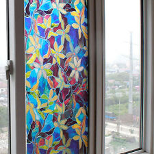 HOT Static Cling Cover Stained Flower Privacy Window Decor Glass Film 45CM*1M SN