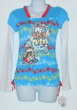 "Bobby Jack Girls Hooded Long Sleeve ""My Best Friend Rocks"" T-Shirt L/14-16 NWT"