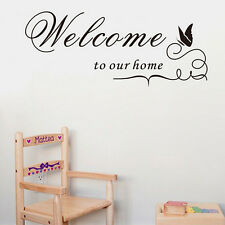Welcome To Our Home Quote Removable Vinyl Decal Wall Stickers Art Room