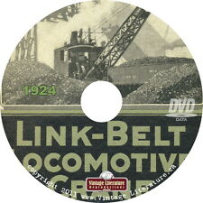1924 Link Belt Railway Crane Catalog { Industrial Machinery } on DVD